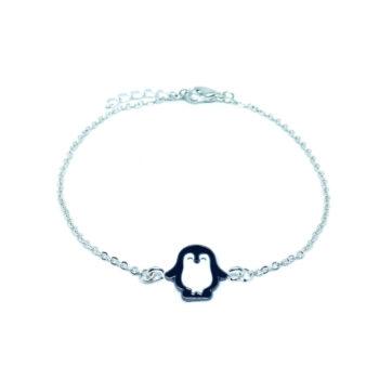 Enamel Penguin Chain Bracelet