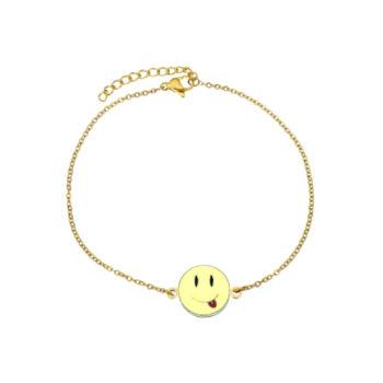 Enamel Emoji Chain Bracelet