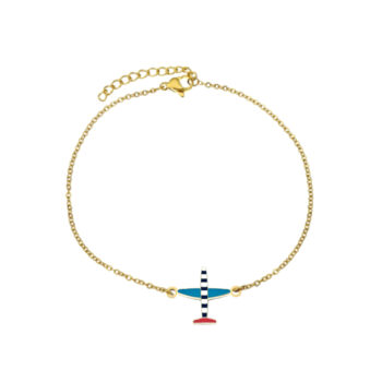 Airplane Gold plated Charm Chain Bracelet
