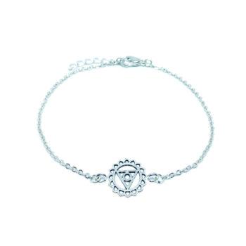 Silver tone Chakra Charm Chain Bracelet