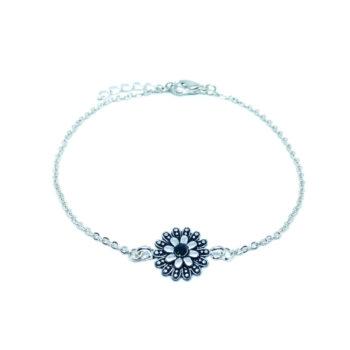 Flower Charm Chain Bracelets