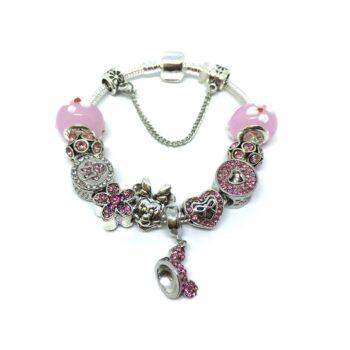 Mickey Murano Glass Bead European Bracelet