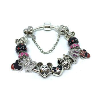 Duck & Mickey Beads European Charm Bracelet