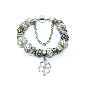 Shamrock Charm European Bracelet