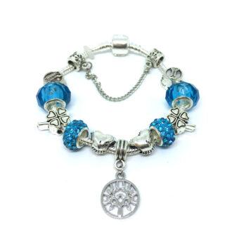 Murano Glass Bead Tree Charm European Bracelet