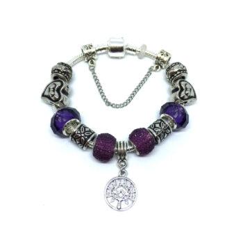 Murano Glass Bead European Bracelet