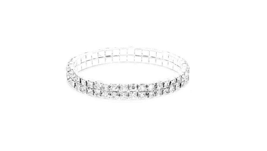 Two Row Rhinestone Bracelet
