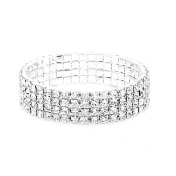 Four Row Rhinestone Bracelet