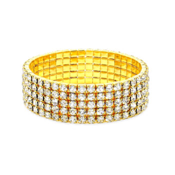 Five Row Rhinestone Bracelet
