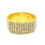 Six Row Rhinestone Bracelet