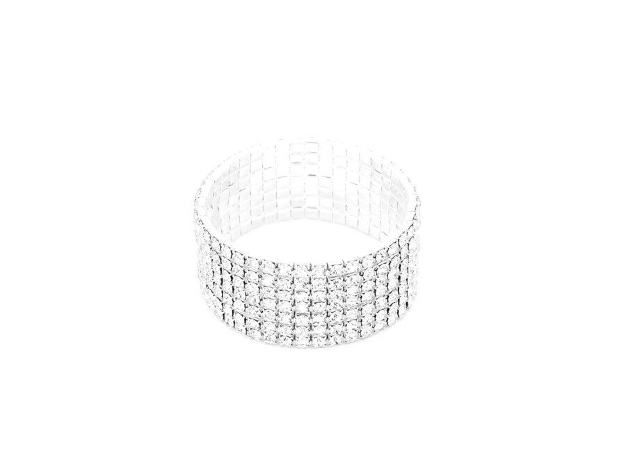 Seven Row Rhinestone Bracelet