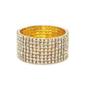 Eight Row Rhinestone Bracelet