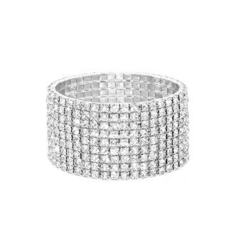 Nine Row Rhinestone Bracelet