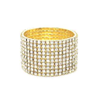 Ten Row Rhinestone Bracelet