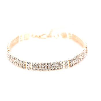 Three Row Rhinestone Bracelet