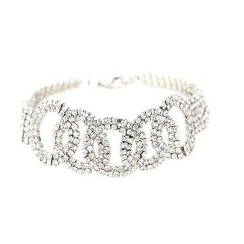 Linked Circle Rhinestone Bracelet