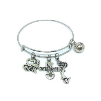 Basketball Charms Wire Bangle Bracelets