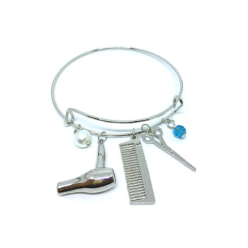 Scissor Charms Wire Bangle Bracelets