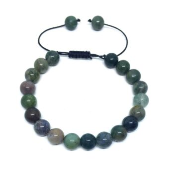 Natural Agate Braided Bead Bracelet