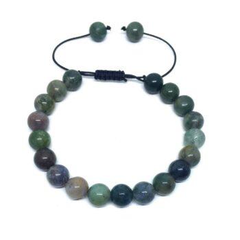 Natural Agate Braided Bead Bracelet