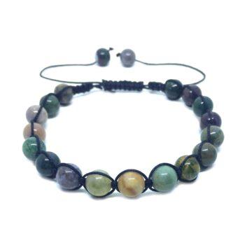 Braided Natural Agate Bead Bracelet