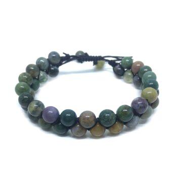 Braided Bead Agate Bracelet