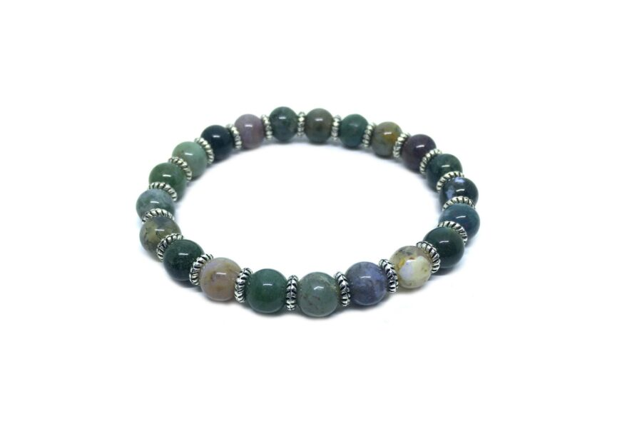 Natural Agate Stretch Bracelet