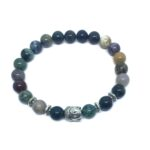 Buddha Natural Agate Bead Bracelet