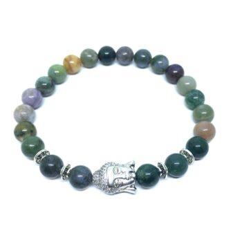 Crystal Buddha Bead Agate Bracelet