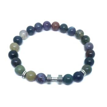 Dumbbell Bead Agate Bracelet