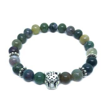 Leopard Bead Agate Bracelet
