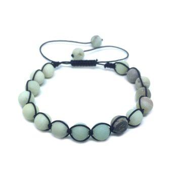 Braided Natural Amazonite Bead Bracelet