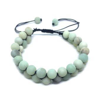 Natural Amazonite Braided Bead Bracelet