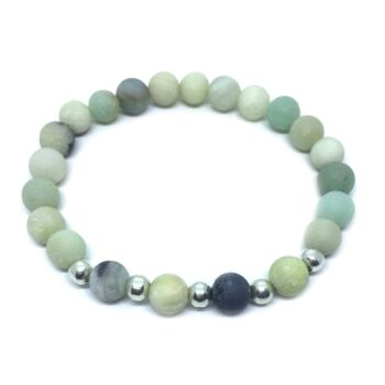 Natural Amazonite Bead Bracelet