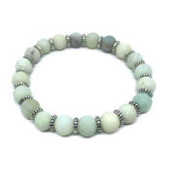 Natural Amazonite Stretch Bracelet