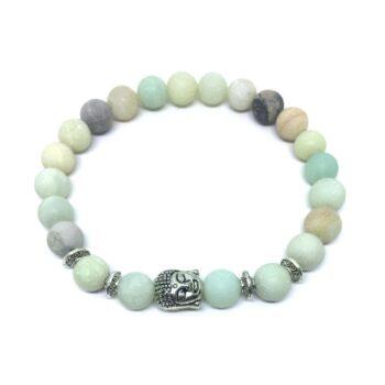 Buddha Natural Amazonite Bead Bracelet