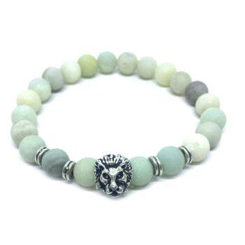 Lion Natural Amazonite Bracelet