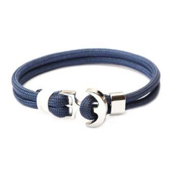 Blue Rope Anchor Bracelet