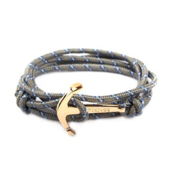 Nylon Rope Viking Anchor Bracelet for Men Women