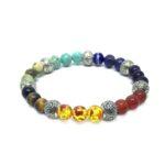 Seven Bead Om Chakra Bracelet