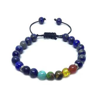 Lapis Lazuli Bead Chakra Braided Bracelet