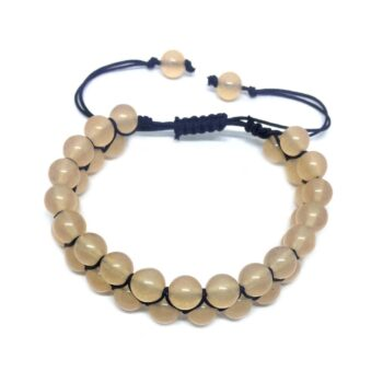 Braided Bead Citrine Bracelet