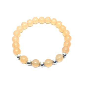 Natural Citrine Bead Bracelet