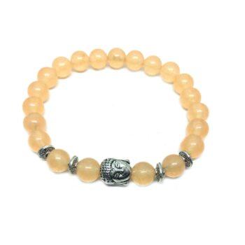 Buddha Natural Citrine Bead Bracelet