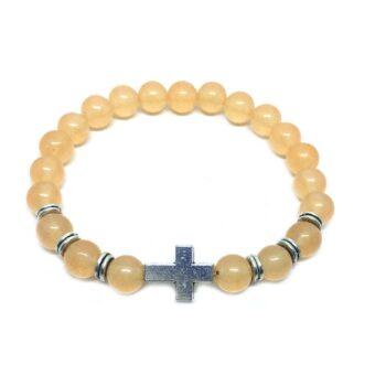 Cross Natural Citrine Bracelet