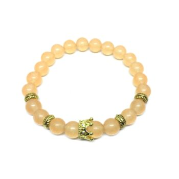 Crown Bead Natural Citrine Bracelet