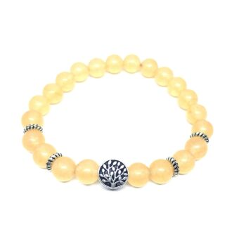 Tree Bead Natural Citrine Bracelet