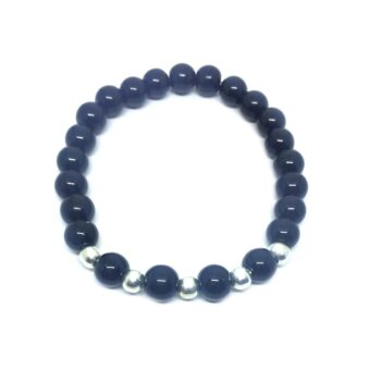 Natural Black Tourmaline Bead Bracelet