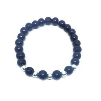 Natural Black Tourmaline Bead Bracelet