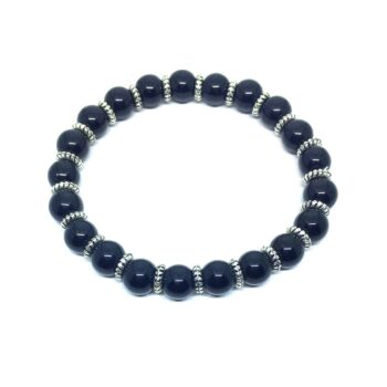 Natural Black Tourmaline Stretch Bracelet